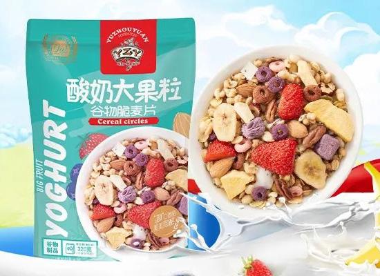 御州园酸奶大果粒谷物脆麦片,FD冻干技术食材锁鲜