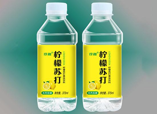 珍趣柠檬苏打水,清爽解渴,等你来选择