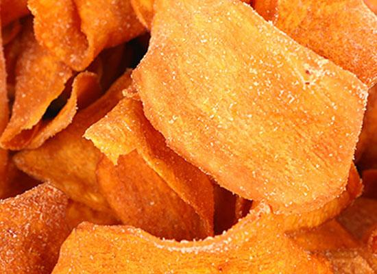 金柱成红薯片,传统美味享受
