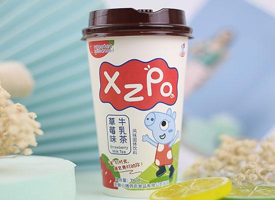 小猪佩奇牛乳茶口味多样,让你一次喝痛快!